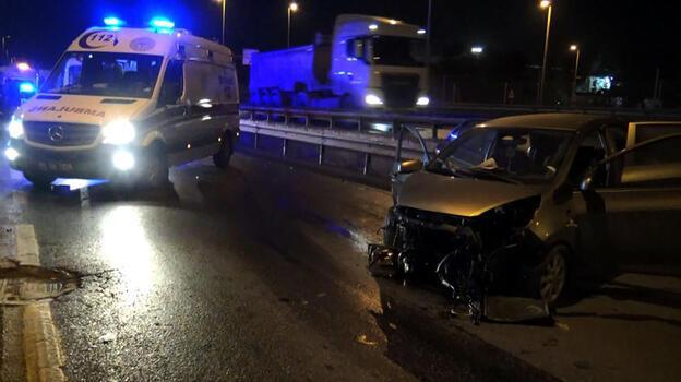 Avcılar D-100 Karayolu yan yolda kaza: 1 yaralı