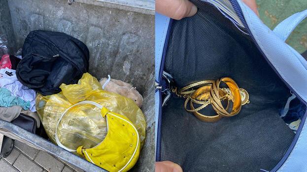 Çöpte altın dolu çanta polisi harekete geçirdi! Gerçek anlaşıldı