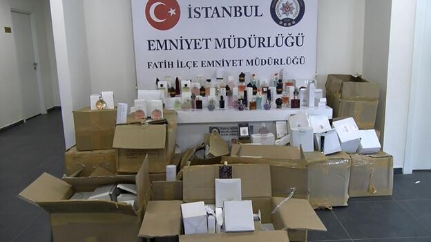 Fatih'te 1 milyon 700 bin lira değerinde kaçak parfüm ele geçirildi
