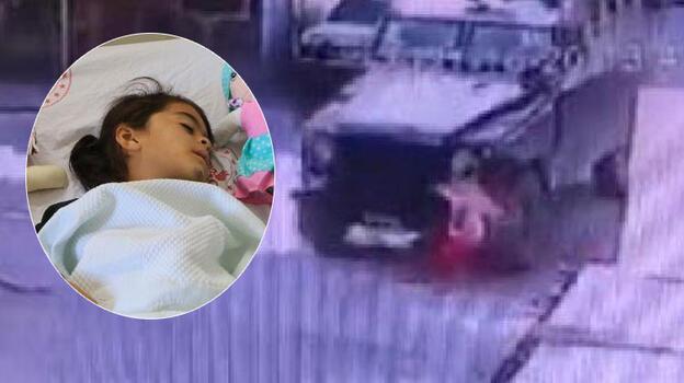 Zırhlı aracın altında kalan 5 yaşındaki Nure, hayati tehlikeyi atlattı