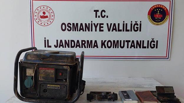 Amanoslar'daki PKK operasyonunda jeneratör ve yaşam malzemesi ele geçti