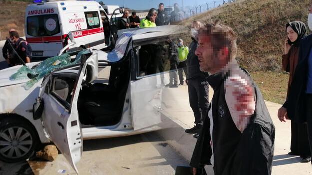 Tuzla'da takla atan otomobildeki 2 kişi yaralandı