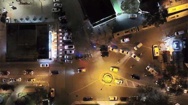 Bursa'da 'drone' destekli asayiş uygulaması