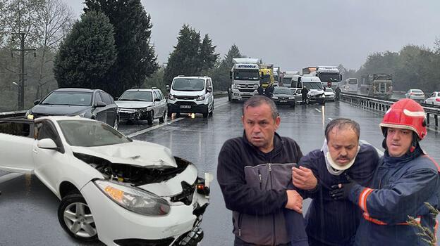 Son dakika... Anadolu Otoyolu'nda zincirleme kaza! 15 araç birbirine girdi