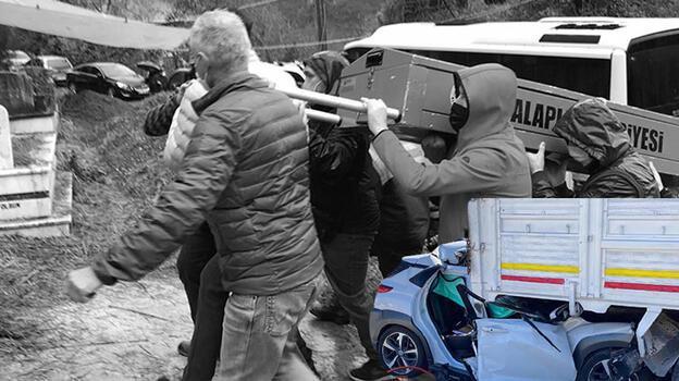 Otomobiliyle park halindeki kamyona çarparak ölen doktor Zonguldak'ta defnedildi