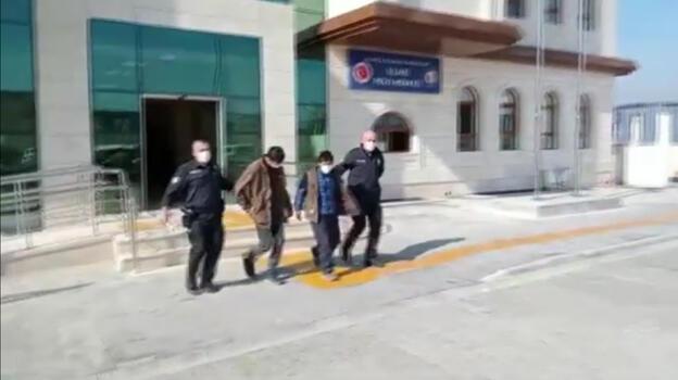 İş yerinden kalorifer peteklerini çalmaya çalışan 2 kişi yakalandı