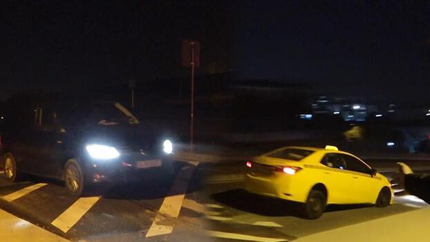Arnavutköy'de uçuran kasis! Sürücüler isyan etti