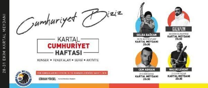 Kartal'da Cumhuriyet Bayramı coşkusu 4 gün 4 gece sürecek