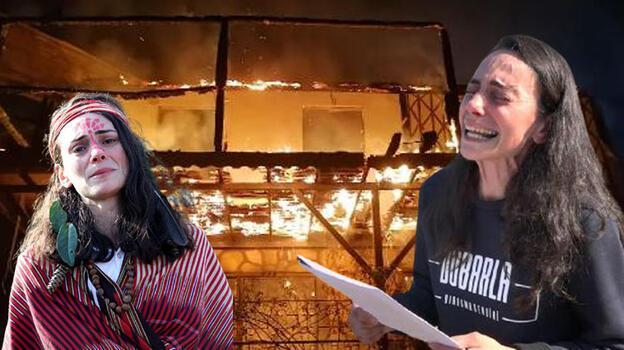 Çevreci ressamın basın açıklaması öncesi yanan evine 'kundaklama' şüphesi