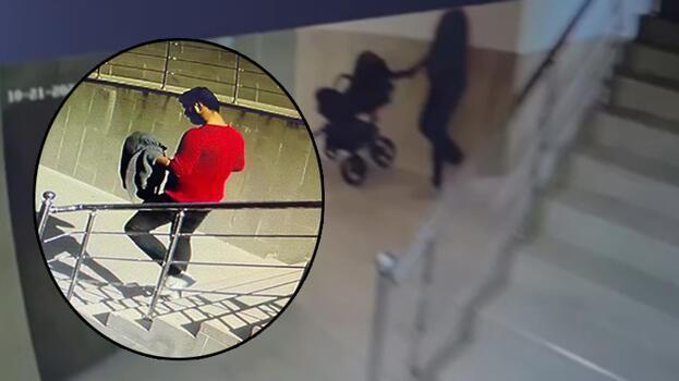 Gündüz vakti 3 bin liralık bebek arabası hırsızlığı!