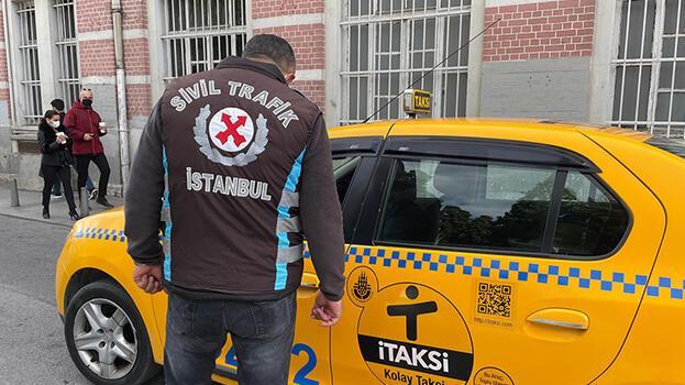 Şişli'de taksicilere yönelik denetim! 8  şoföre ceza kesildi