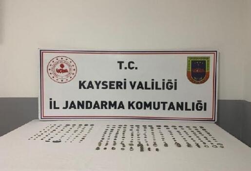 Kayseri'de tarihi eser operasyonu: 3 gözaltı