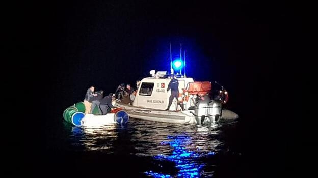 Bodrum açıklarında 16 kaçak göçmen yakalandı
