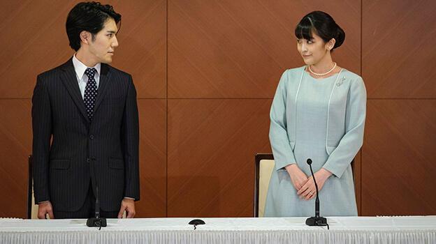 Uğruna kraliyet statüsünü kaybetti... Japonya'da Prenses Mako evlendi!