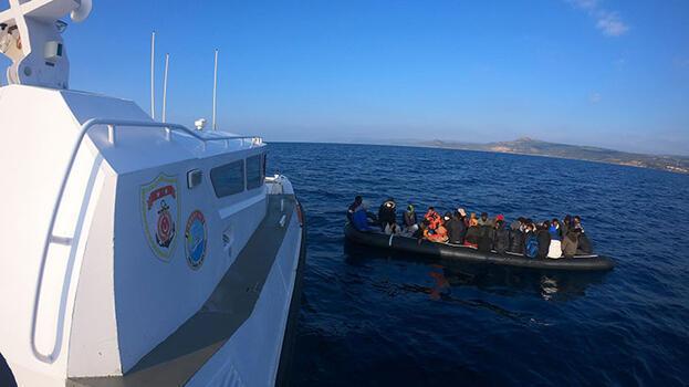 Ayvacık açıklarında 35 kaçak göçmen kurtarıldı
