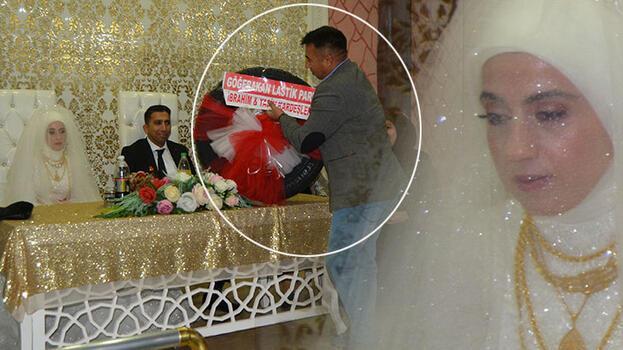 Gaziantep'te gelin ve damada takı yerine araç lastiği hediye ettiler