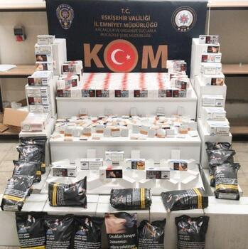 Eskişehir'de 402 bin 800 makaron ele geçirildi