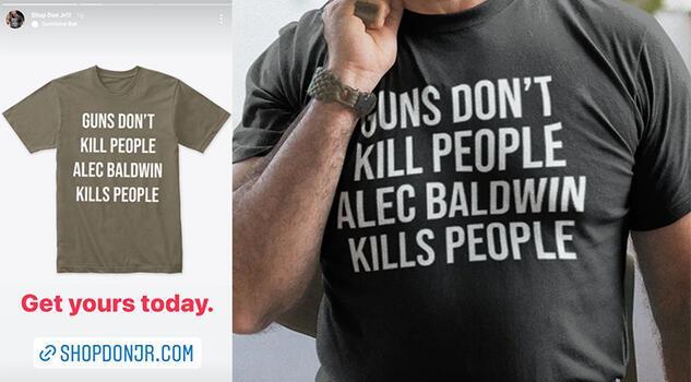 Trump ailesinden Alec Baldwin olayına gönderme yapan 'tişörtler'