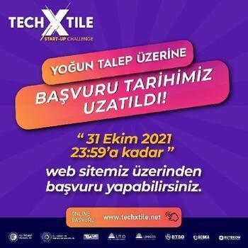 Techxtıle Start-Up Challenge başvuruları 31 Ekim'e kadar uzatıldı
