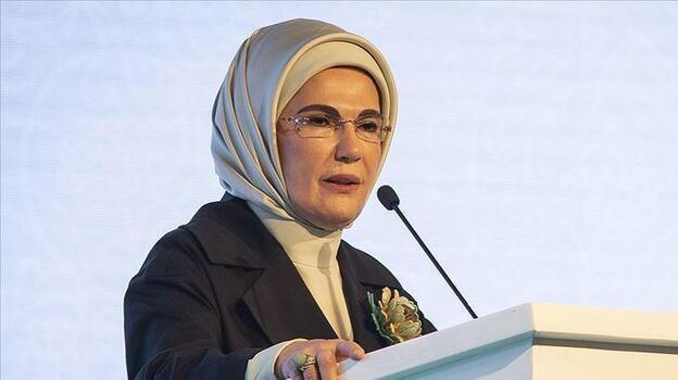 """Emine Erdoğan, """"Kütüphanesiz Okul Kalmayacak Projesi"""" Tanıtım  Toplantısı'nda konuştu"""