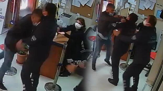İğne yaptırmaya geldiği hastanede güvenlik görevlilerini darbetti