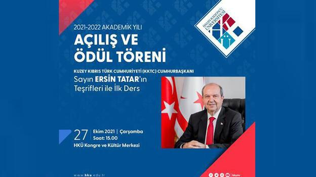 KKTC Cumhurbaşkanı Tatar, Hasan Kalyoncu Üniversitesi'nde törene katılacak