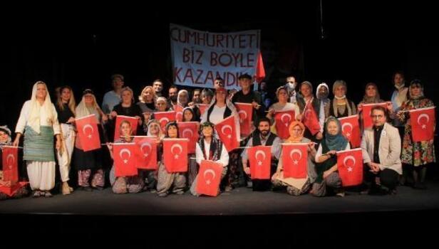İzmir Büyükşehir Belediyesi Köy Tiyatroları ilk oyununu sahneledi