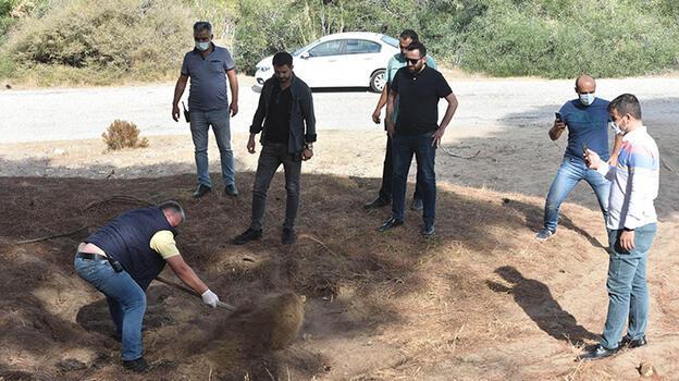 Mezar ihbarı boş çıkınca ekipler çukuru kapatıp döndü