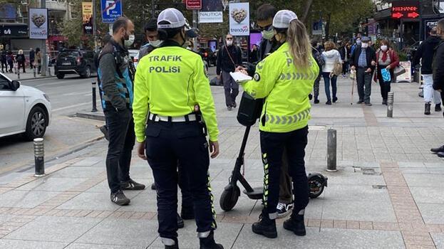 İstanbul'da elektrikli scooter denetimleri; 86 kişiye toplam 30 bin 932 lira ceza