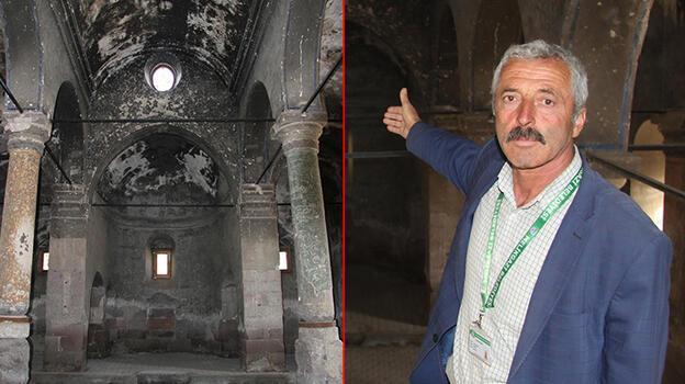 164 yıllık Rum kilisesinde defineci tahribatı