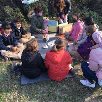 Gala Gölü'nde öğrencilere açık hava sınıfı etkinliği