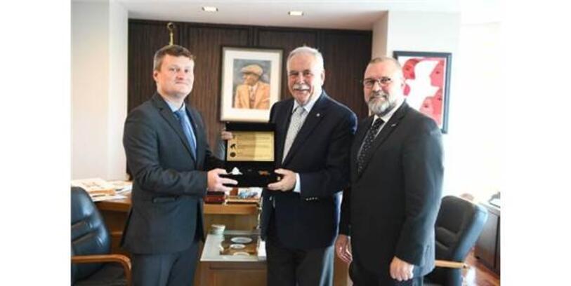 Belarus Başkonsolosu Shved'den Başkan Gökhan'a Ziyaret