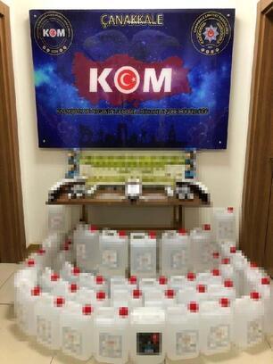 Çanakkale'de sahte içki ve cinsel içerikli ürün ele geçirildi