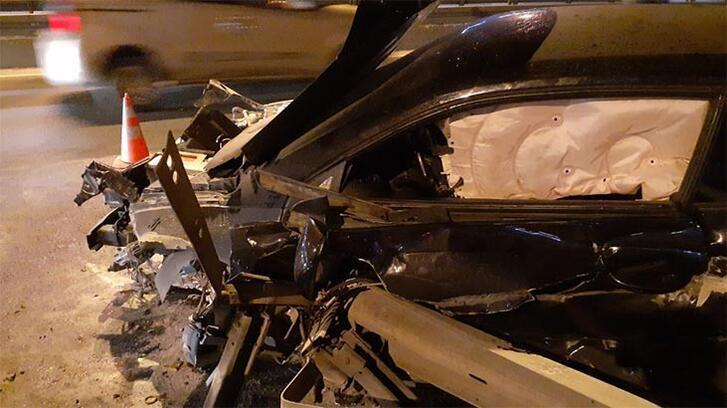 D-100 Karayolu'nda kaza! Ayak parmakları koptu