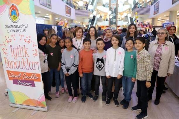 Çankırı'da Çocuk Meclisinden lösemili çocuklar için kermes