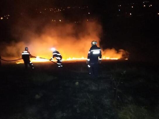 Bartın'da çalılık alan yandı