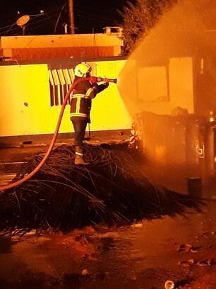 Resulayn'da akaryakıt istasyonunda yangın