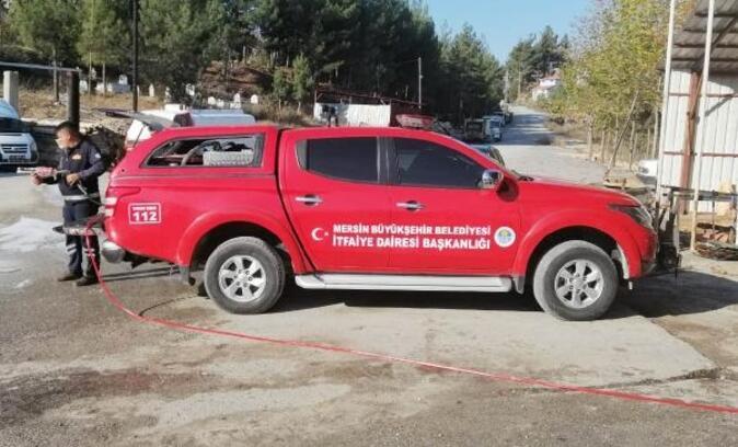 Büyükşehir'den Çamlıyayla'ya yeni itfaiye aracı