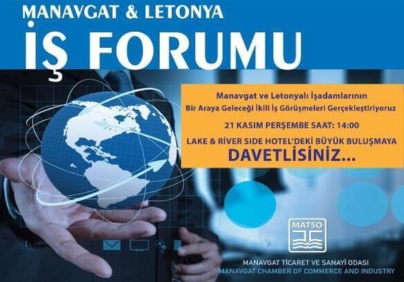 Manavgatlı ve Letonyalı iş insanları buluşacak