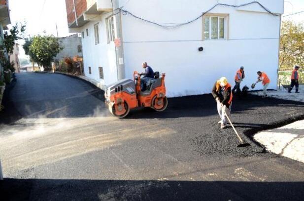 Ovaakça ve Panayır'da asfalt çalışması