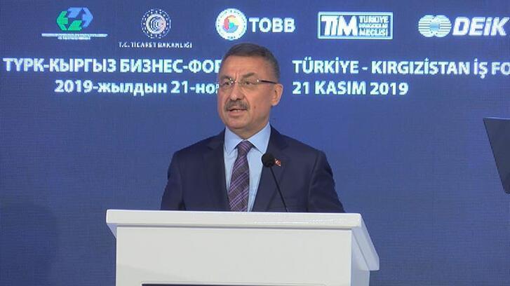 Fuat Oktay Türkiye-Kırgızistan İş Forumu'nda konuştu