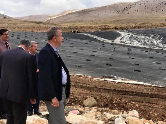 Bor Kılavuz Göleti,su tutmaya başladı