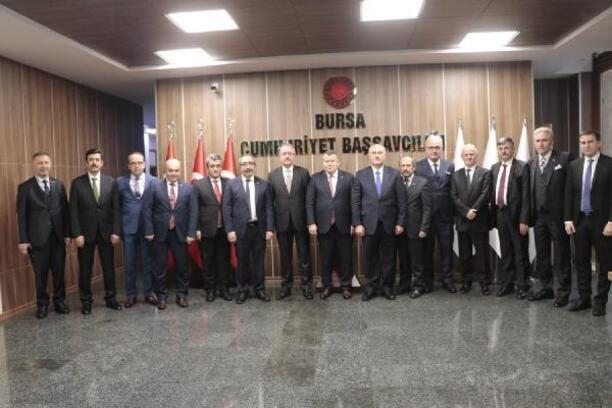 Yargıtay üyeleri Bursa Adalet Sarayı'nı ziyaret etti