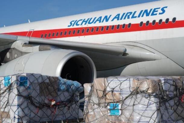 İGA'DAN Çin'deki havalimanlarına 3 tonluk tıbbi yardım malzemesi