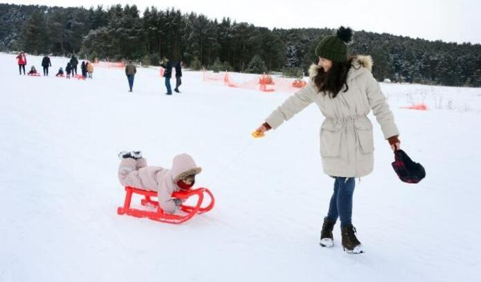 Yalnızçam Kayak Merkezi'nde 'kar' sevinci