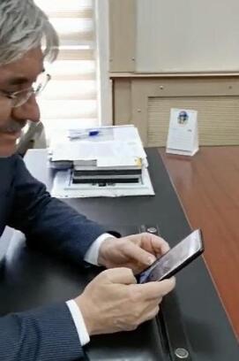 Gazi Korkmaz'a, Başkan Cengiz'den geçmiş olsun telefonu