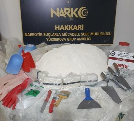 Yüksekova'da 30 kilo 500 gram eroin ele geçirildi