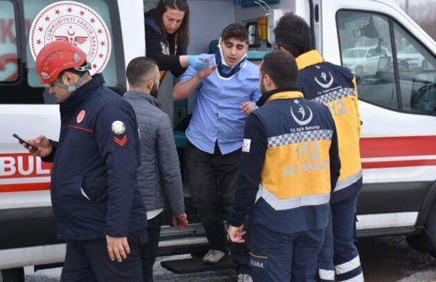 Sivas'ta zincirleme trafik kazası: 2 yaralı