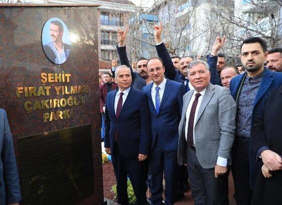 Fırat Yılmaz Çakıroğlu'nun ismi parka verildi