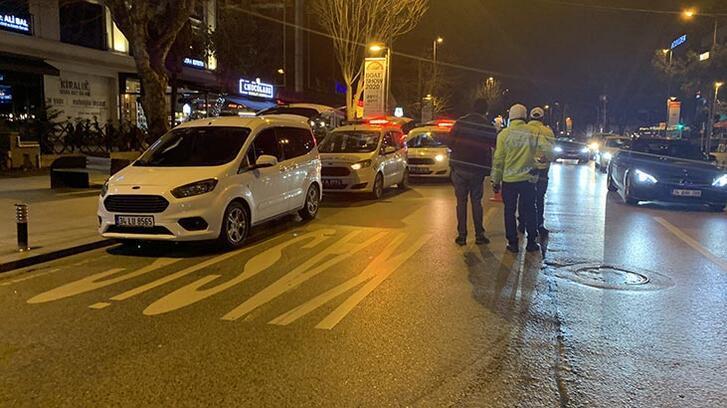 Dünkü kazanın ardından Bağdat Caddesi'nde trafik denetimi
